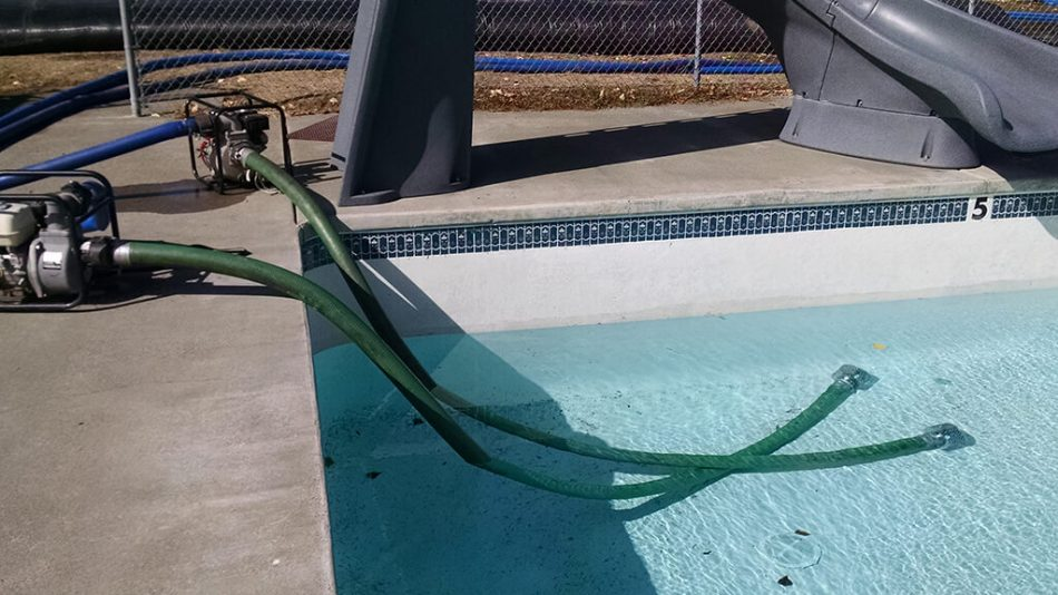 60000 gal Water Storage for Pool Maintenance